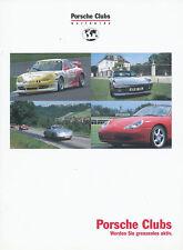 1058PO Porsche Clubs Prospekt 1999 2002 brochure Autoprospekt prospectus