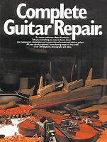Complete Guitar Repair Learn to Restore Construct Electric Manual Music Book