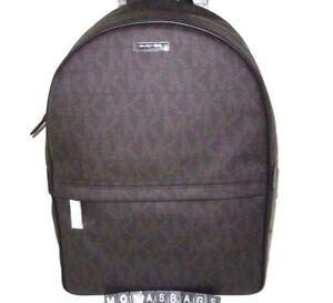 Michael Kors Jet Set Men's Large Brown Signature Backpack NWT$398
