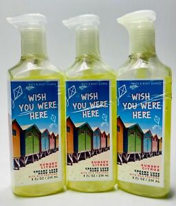 3 Bath & Body Works SUNSET CITRUS Wish You Were Here Creamy Luxe Hand Soap