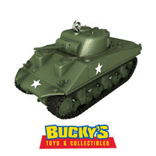 1943 M4A3 Sherman Tank  2017 Hallmark Ornament  Army Marines Military In-Stock