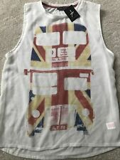 Primark white sleeveless vest top size 14