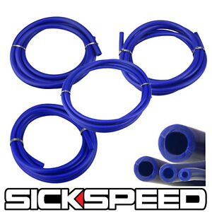 3 METER SILICONE HOSE KIT SET FOR ENGINE BAY DRESS UP 4MM 6MM 8MM 12MM BLUE P2