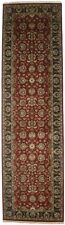 Red & Charcoal Floral Design 4X15 Agra Jaipur Oriental Runner Rug Hallway Carpet