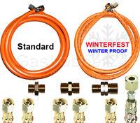 """PropanGasschlauch 2020 Winterfest oder Standard 1/4"""" 3/8"""" links od. 1/4"""" X 8mm"""