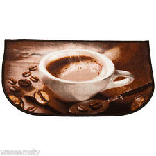 30 x 18 Slice Coffee Cup & Beans Cappuchino Kitchen Small Rug Throw Accent Decor