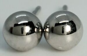 New Closeout 10k White Gold SImple 3.8mm Hollow Gold Ball Stud Post Earrings