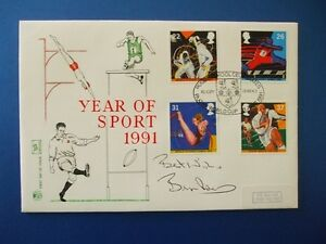 STUART 1991 SPORT FIRST DAY COVER SIGNED BY BRYAN ROBSON [ MANCHESTER UNITED ]