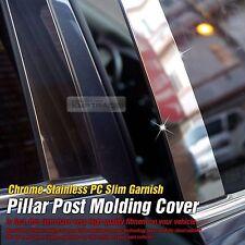 Chrome Door Pillar Post Flexible Stainless PC Cover For HYUNDAI 06-10 Santa Fe