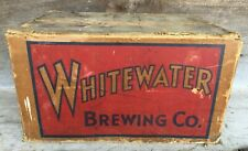 New Listing*Vintage Whitewater Brewing Company Beer Bottle Cardboard Bottle Case