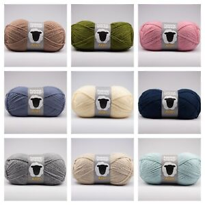 Happy Sheep Aran Premium Acrylic Knitting Yarn / Crochet Wool 100g - Soft Touch