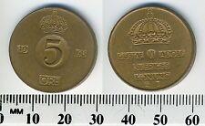 Sweden 1968 - 5 Ore Bronze Coin - King Gustaf VI Adolf