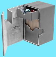 ULTIMATE GUARD FLIP n TRAY GREY 80+ XENOSKIN DECK CASE Card Box Standard Size