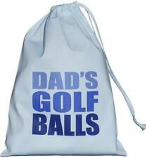 Dad's Golf Balls - SMALL blue drawstring bag - 25cm x35cm  - SUPPLIED EMPTY