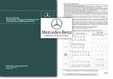 Mercedes Service Manual 190 c Dc 220 b Sb SEb 230 SL 300 SE w110 w111 w112 w113