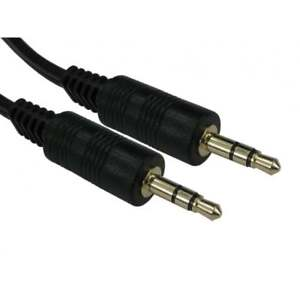 2m 3.5mm Jack Plug Aux Cable Audio Lead For to Headphone/MP3/iPod/Car GOLD 6ft