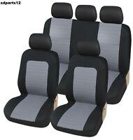 Per Nissan Toyota Coprisedili Nero Grigio Tessuto Fodere Sedili Auto Bicolore