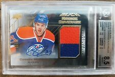 2015-16 UD BLACK ROOKIE CONNOR MCDAVID COVERAGE JERSEY GOLD AUTO 10 BGS 8.5 /60!