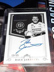 2020 National Treasures Dale Jarrett *Retro Signatures* Autograph Card #/15!!