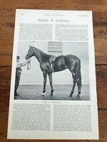 "1896 racing illustrated print "" racing in australia & racecourse scenes  """