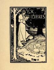 Bookplates Ex-Librīs 46 Old Book Scans Drawings Aubrey Beardsley PDF DVD-ROM