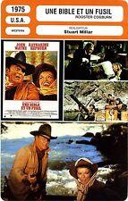Fiche Cinéma Movie Card. Rooster Cogburn/Une bible et un fusil (USA) 1975 Millar