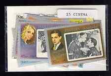 Artistes de cinéma 25 timbres différents oblitérés
