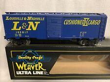 ✅WEAVER LOUISVILLE & NASHVILLE 40' STEEL SIDE BOX CAR W/ LIONEL STYLE TRUCKS!