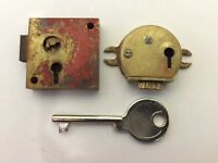 f GAMEWELL used small MASTER POST KEY Fire Alarm Box POLICE Telegraph Call box