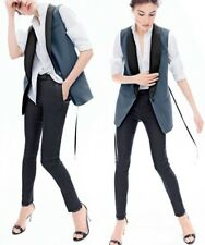 JCREW Women's Collection Tuxedo Vest Blue Black $250 E1472 14 SOLD-OUT! NEW!