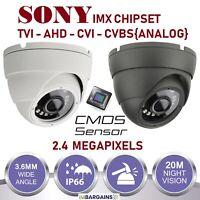 DOME CCTV CAMERA 2.4MP 4IN1 TVI AHD CVI CVBS FULL HD 1080P OUTDOOR NIGHT VISION