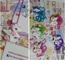Collana Kawaii unicorno mini pony Alchemian magia portafort lolita gothic pastel