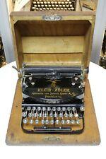 KLEIN ADLER - 1926 - portable typewriter Schreibmaschine vintage antik