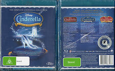 Disney The Complete Cinderella Collection Blu Ray 3 Movies Boxset Brand New