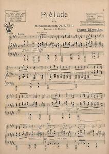 """Rachmaninoff """"Prelude"""" für Salonorchester"""