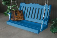 Poly Furniture Wood 4 Foot Royal English Swing *Blue Color* 4 Ft Swing