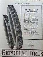 1917 Republic Tires Rubber Co Service of Republic Youngstown OH ad