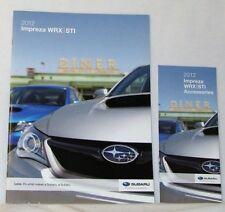 2012 12  Subaru Impreza WRX / STI original sales brochure + Accessories  MINT