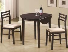 Coaster 3pc Dining Set Cappuccino Table & Chair Sets