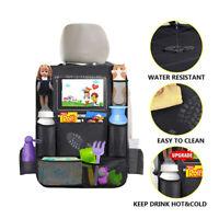 1x Auto Rücksitz Organizer Sitzschoner Rückenlehnenschutz mit Tablet Fach Tasche