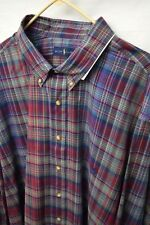 Mens NWT New 4XLT 4XL Tall Polo Ralph Lauren Long Sleeve Checks Oxford Shirt