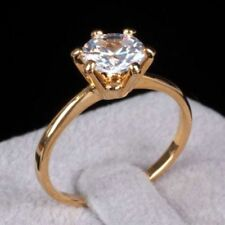 Stunning 0.40 Cts F/VS1 GIA Certified Natural Diamond Solitaire Ring In 14K Gold