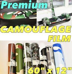 """Car Interior Camouflage Style Vinyl Wrap 12"""" x 60"""" Trim Dash Sticker MSS J"""