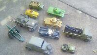 Vintage Diecast Vehicles- Corgi, Matchbox, Lesney, Dinky military collection