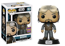 Funko Pop Bodhi # 183 Star Wars Rogue One SDCC 2017 Vinyl Bobble Head