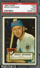 1952 Topps #224 Bruce Edwards Chicago Cubs PSA 7 (MC) NM