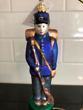 Nwt Abigail'S Collection Christmas Blown Glass Soldier Ornament Made In Poland