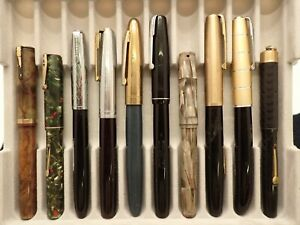10 WATERMAN FOUNTAIN PENS -- SOME GOLD NIBS --LOT 367