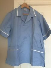 ALEXANDRA HE126 Mens Light Blue Scrub Medical Nurses Vets Tunic Size L