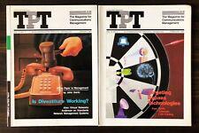 1987 Telecommunication Products + Technology TPT Magazine, Lot of 2 - Jan, Feb